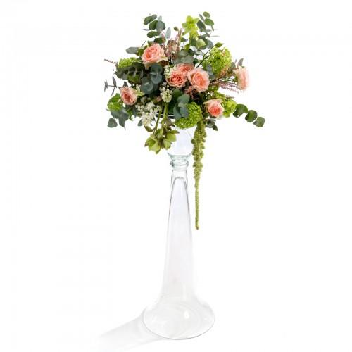 Aranjament floral de nunta din viburnum, minirosa
