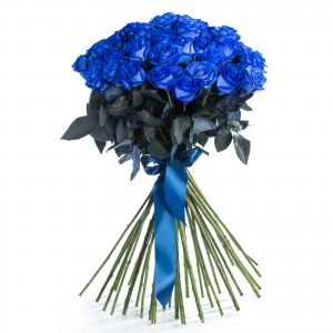 Buchet 39 trandafiri albastri
