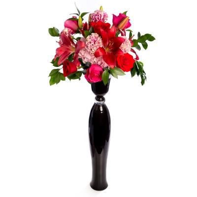 Aranjament floral de nunta din garoafe, trandafiri