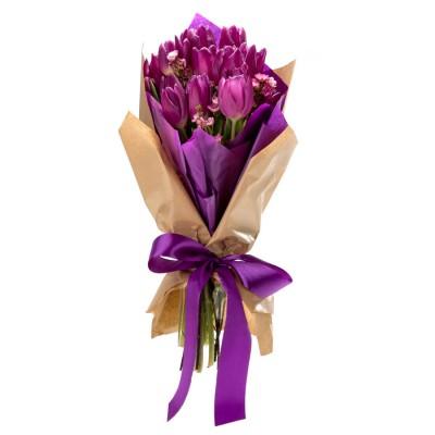 Buchet de flori cu 5 lalele