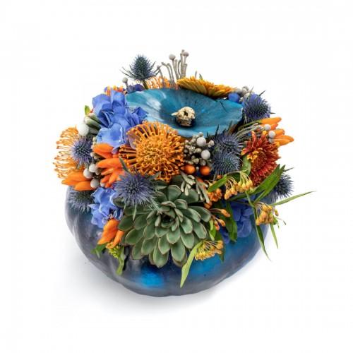 Aranjament floral Blue Halloween