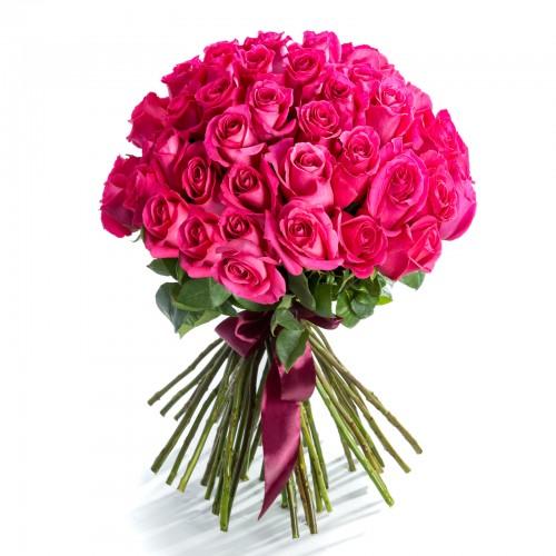 Buchet 49 trandafiri ciclamen