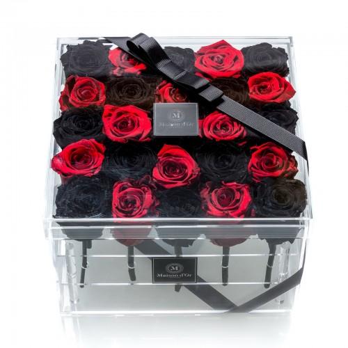 Cutie 25 trandafiri criogenati