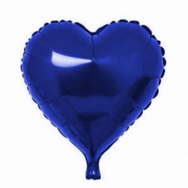Balon Folie Inima Albastru Cu Heliu