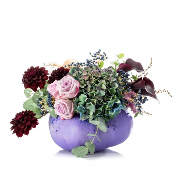 Aranjament floral purple halloween