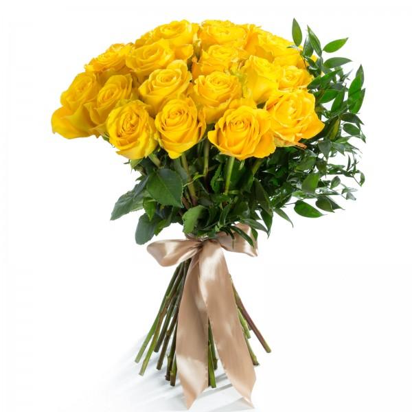 Buchet 25 Trandafiri Galbeni