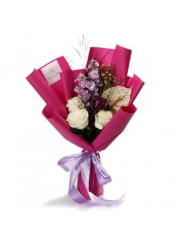 "Buchet de flori ""Pretty in pink"""