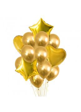 Set baloane aurii cu heliu