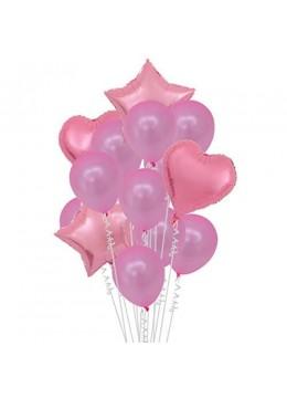 Set baloane roz cu heliu