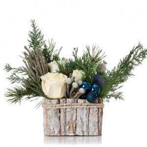 "Aranjament floral de Craciun ""White Christmas"""
