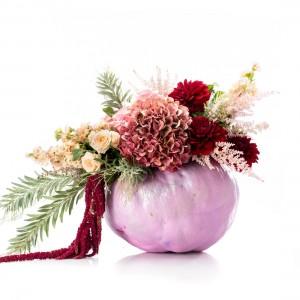 Aranjament floral pink Halloween