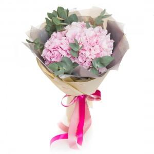 Buchet de flori 3 hortensii roz