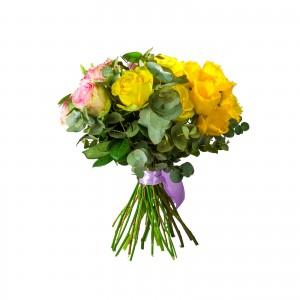 Buchet Trandafiri si Lisianthus