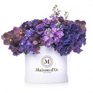Colectia Desire- Cutie cu matthiola,hortensie si orhidee