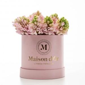 Cutie roz cu flori Anna
