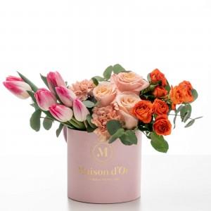 """Cutie roz cu flori """"Bianca"""""""