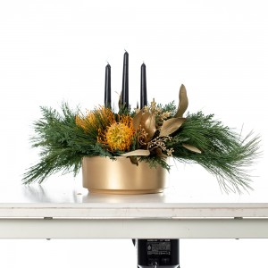 """Aranjament floral de Craciun """"Golden times"""""""