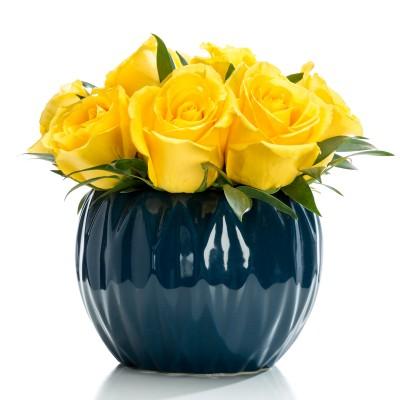 Aranjament floral business ch trandafiri galbeni