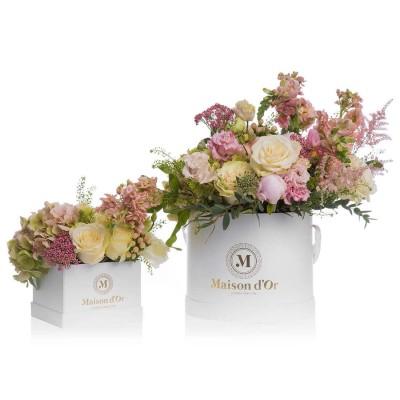 Aranjamente florale in nunate de roz Mama-Fiica