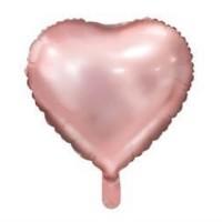 Balon Folie Inima Roz Cu Heliu