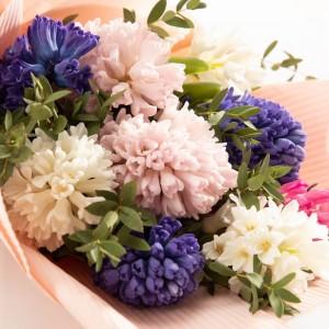 Buchet 9 zambile multicolore