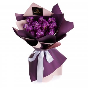 Buchet de flori 9 matthiola mov