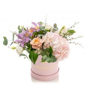 Cutie roz cu flori Isabella