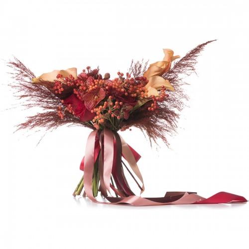 Buchet de mireasa orhidee si trandafiri
