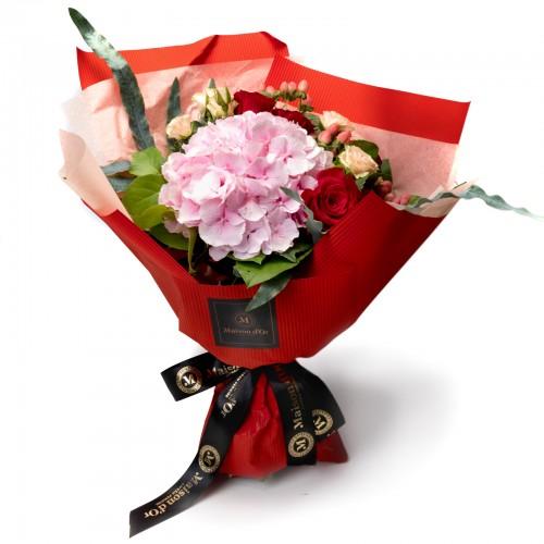 Buchet hortensie roz
