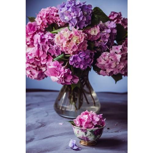 Buchet de flori hortensii si bujori