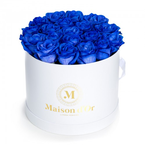 Cutie 23 trandafiri albastri