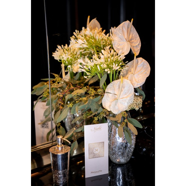 White anthurium floral arrangement