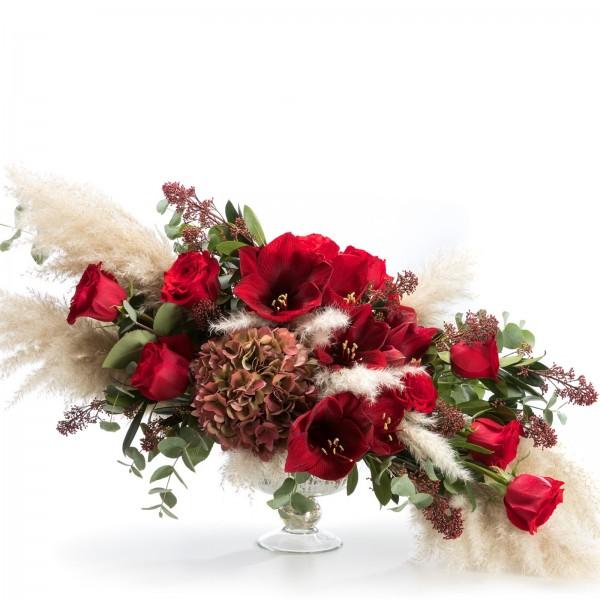 Floral arrangement with Amaryllis