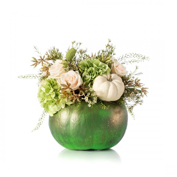 Halloween green floral arrangement