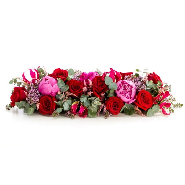 Presidium floral arrangement of roses and peonies