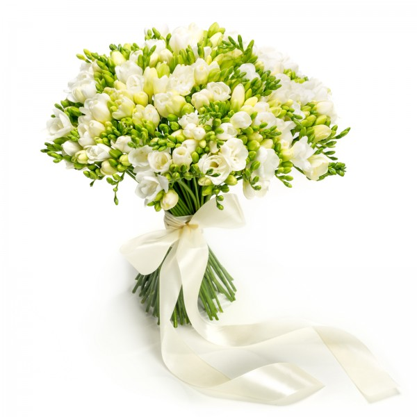 Bouquet 101 white freesias