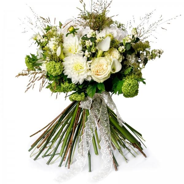 Bouquet dahlia and hydrangea