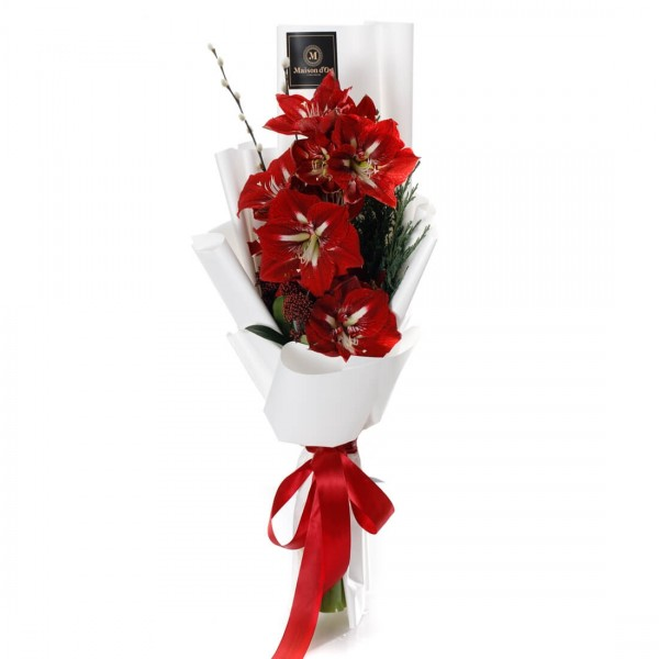 """Crimson Christmas"" Flowers bouquet"