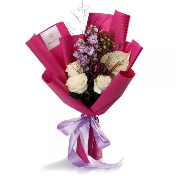 """Pretty in pink"" Flowers Bouquet"