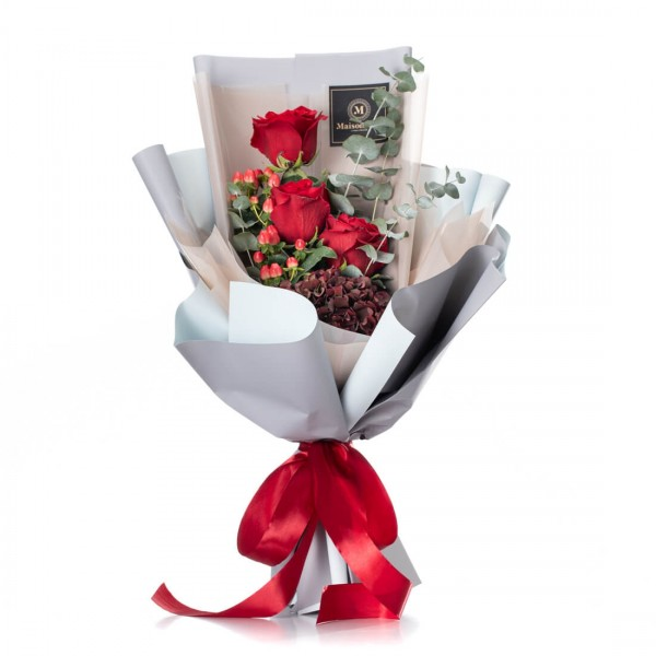 """Flowers Bouquet """"Simply red"""""""