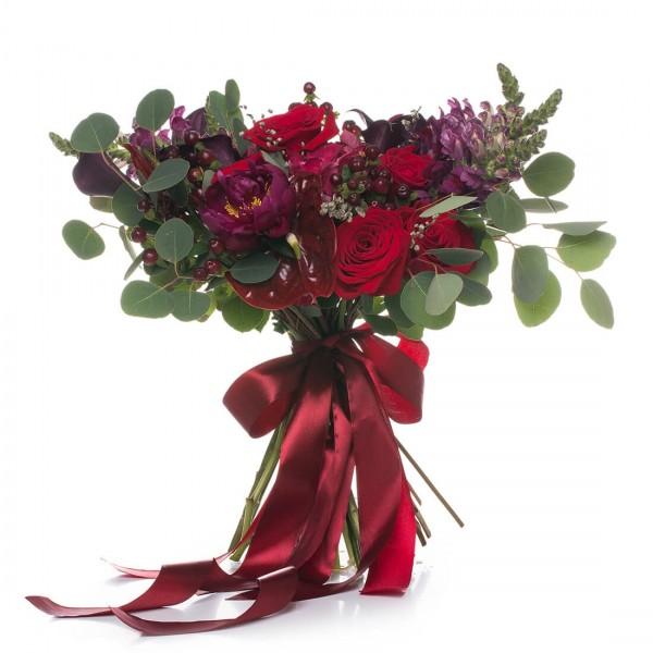 Cafe Rose bridal bouquet