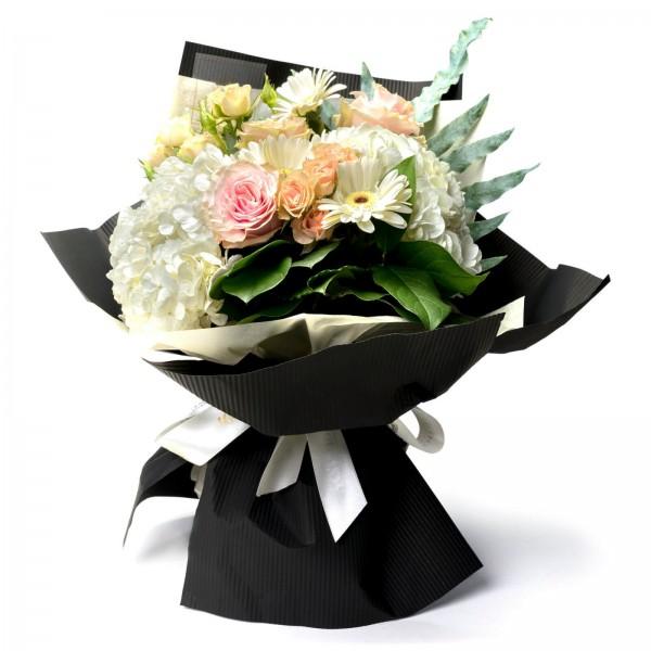 Hydrangea and mini rose bouquet