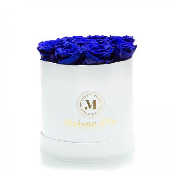 Box of 9 blue cryogenic roses