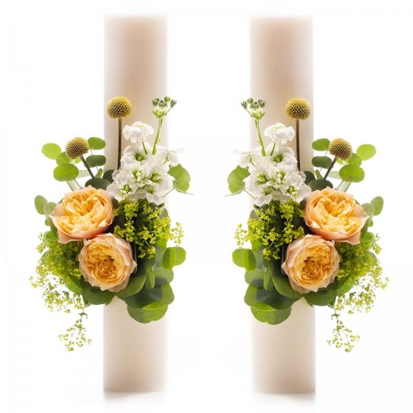 Short Wedding Candles Vuvuzela gold