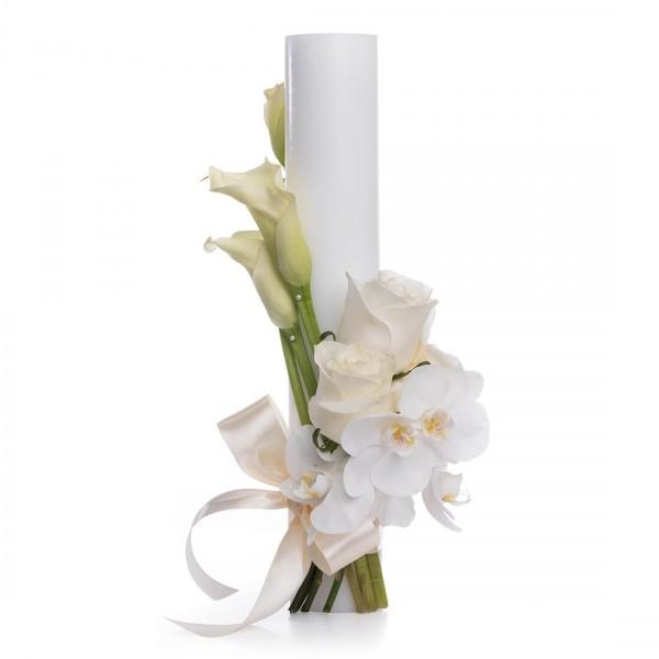 Purity short wedding candle