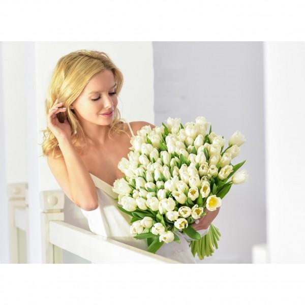Bouquet 79 white tulips