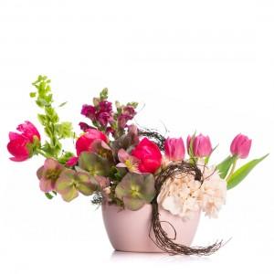 Aranjament Floral cu bujori Lille