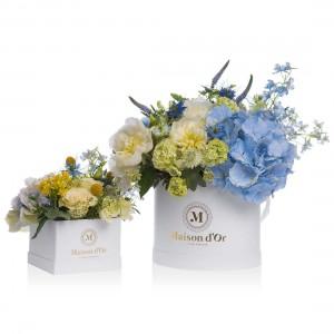 Aranjamente florale in nunate de albastru Mama-Fiica