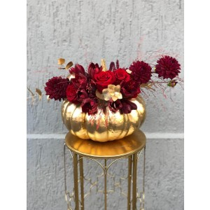 Gold Halloween Floral Arrangement