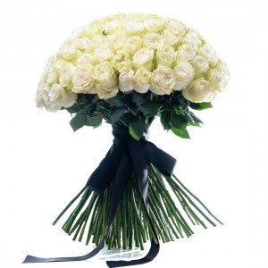 Boquet of 101 white roses